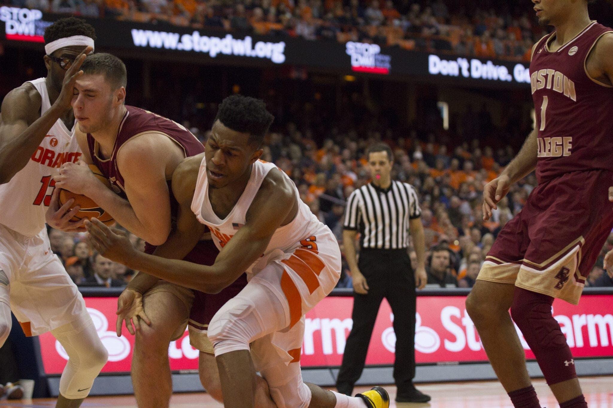 Men's basketball versus Boston College
