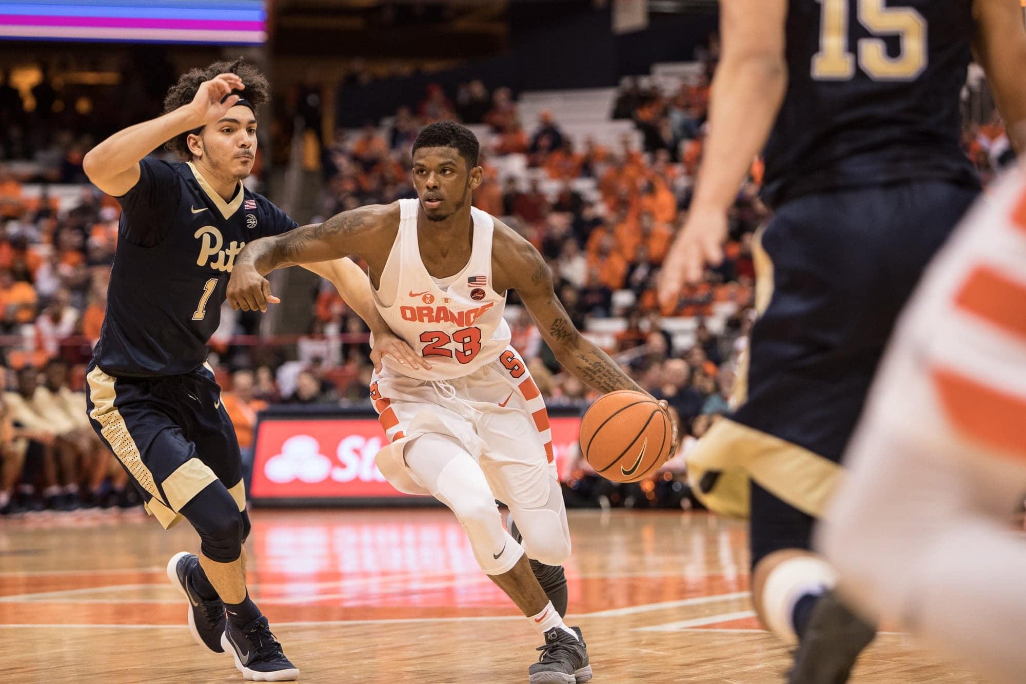 Men's basketball versus Pitt