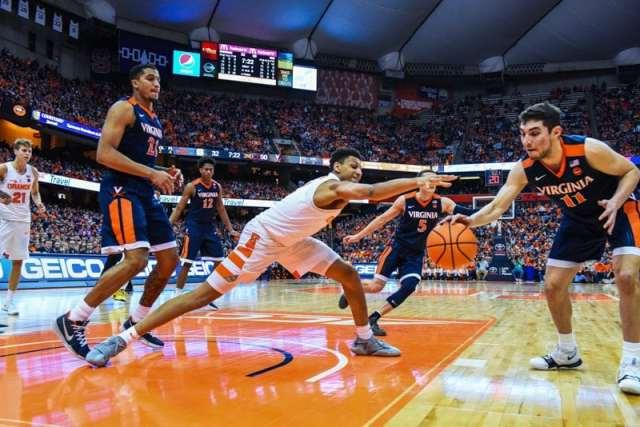 Men's basketball versus Virginia