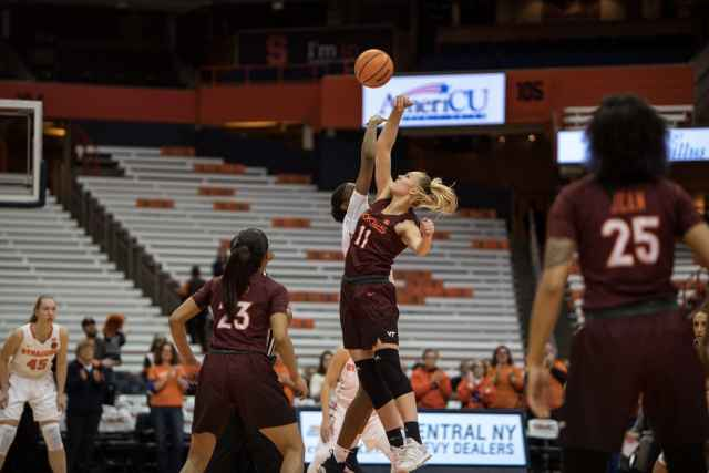 Women's basketball versus Virginia Tech