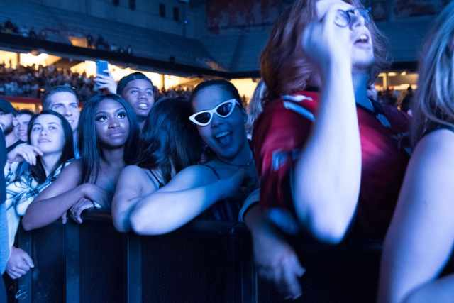 The crowd during Gucci Mane's set at Block Party 2018.
