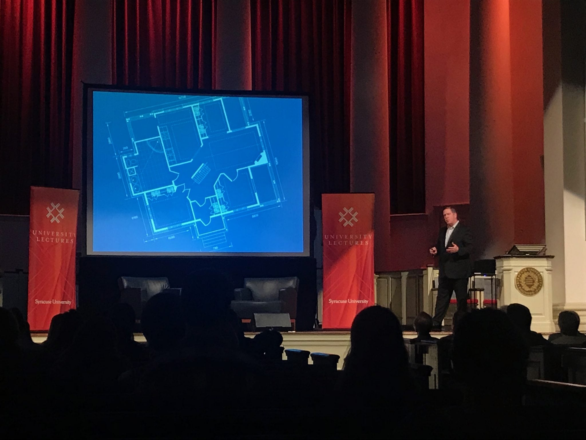 Rick Fedrizzi at Syracuse University's University Lectures event on April 24, 2018