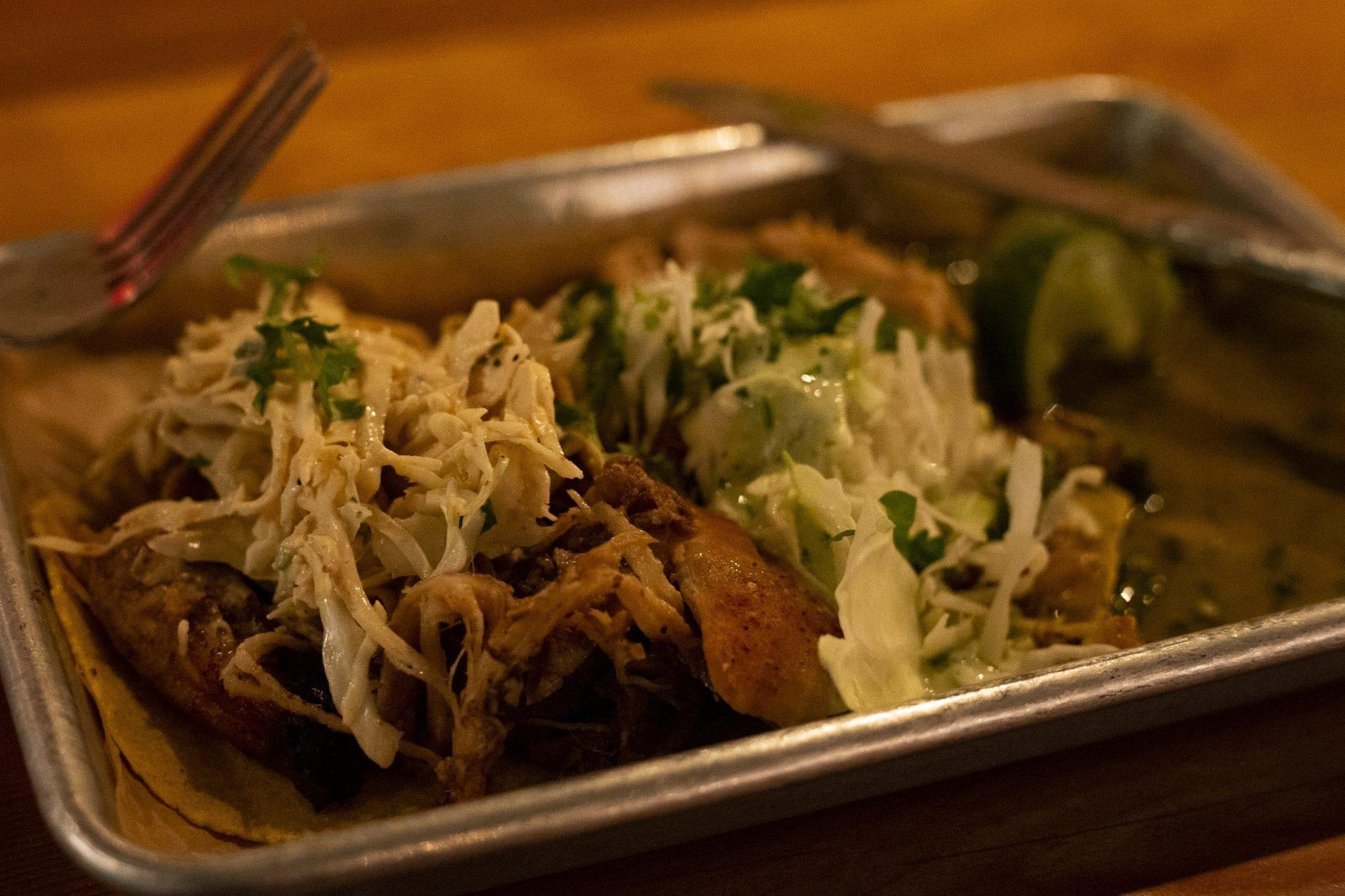 Carnitas and Hot Chix tacos at XO Taco in Syracuse