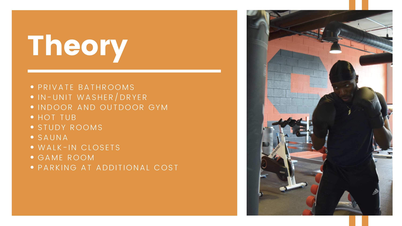 Theory amenities breakdown.