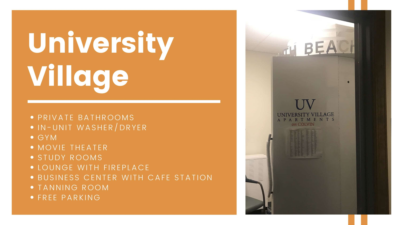 UV amenities breakdown