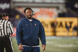 In December 2015, Dino Babers was hired as the first black head coach in Syracuse football history.