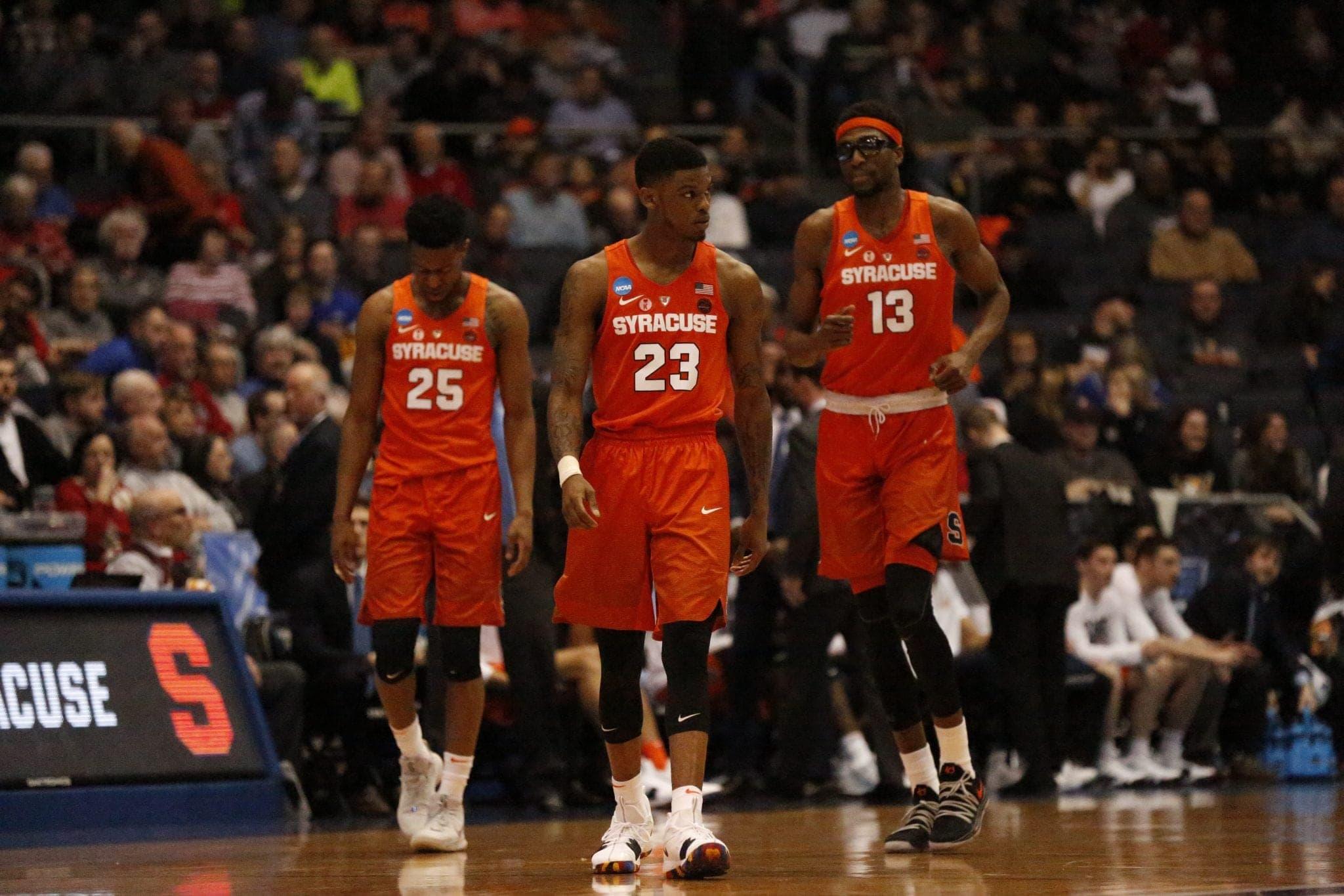 SU Orange starters during Syracuse's 60-56 win versus Arizona State