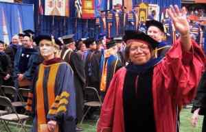 Newhouse dean Lorraine Branham at Syracuse University's 2010 Commencement