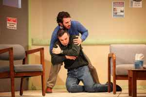 "Justin Slepicoff and Nick Turturro in the Syracuse University Department of Drama production of ""Next Fall."""