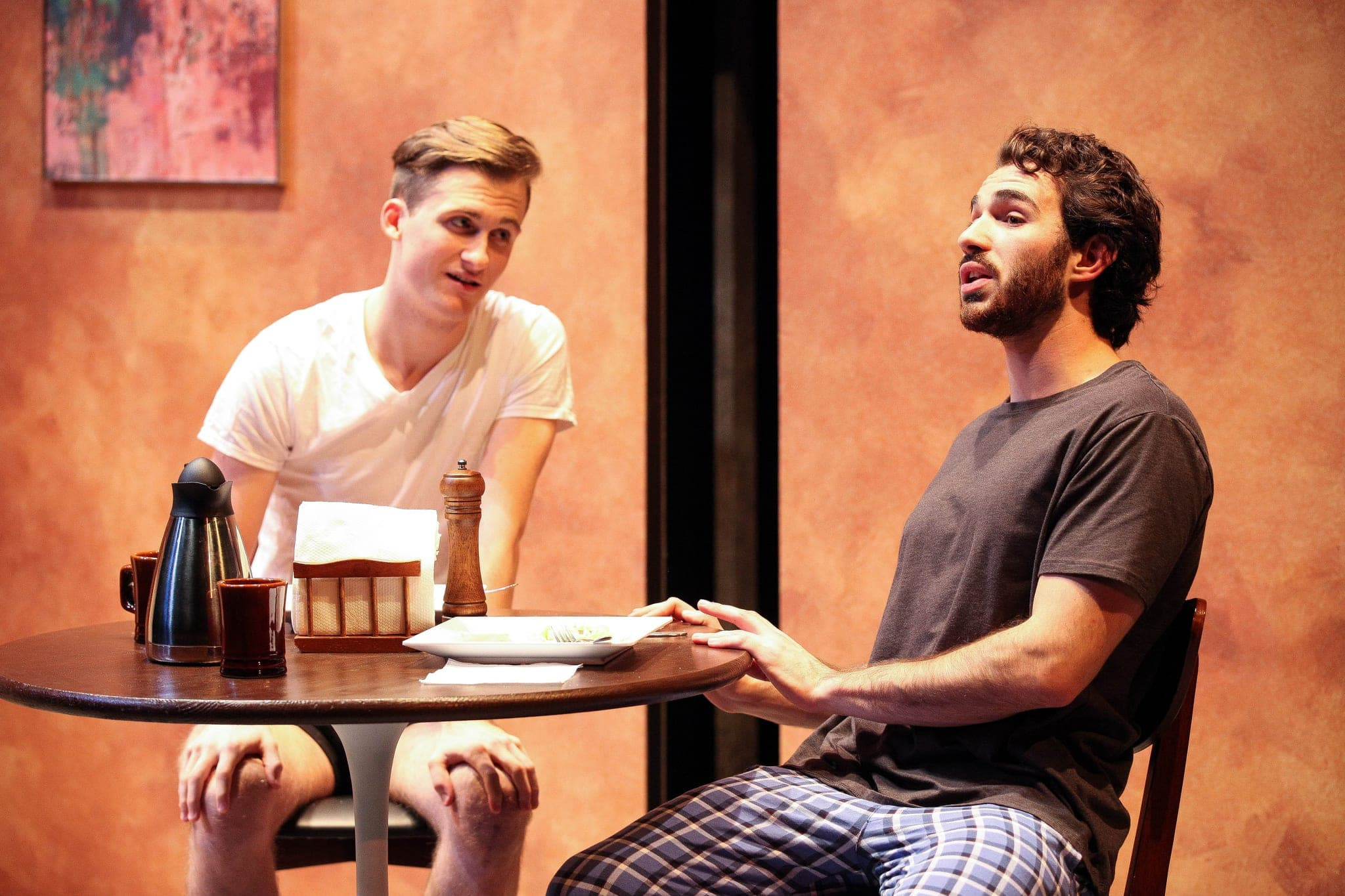 Justin Slepicoff and Nick Turturro in the Syracuse University Department of Drama production of