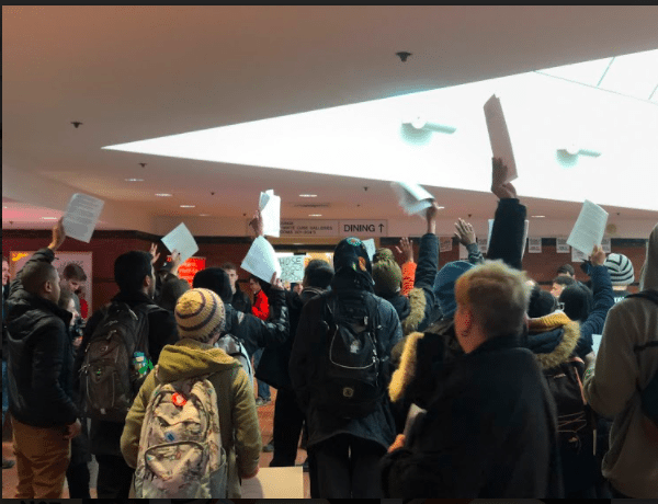 student protest in Schine