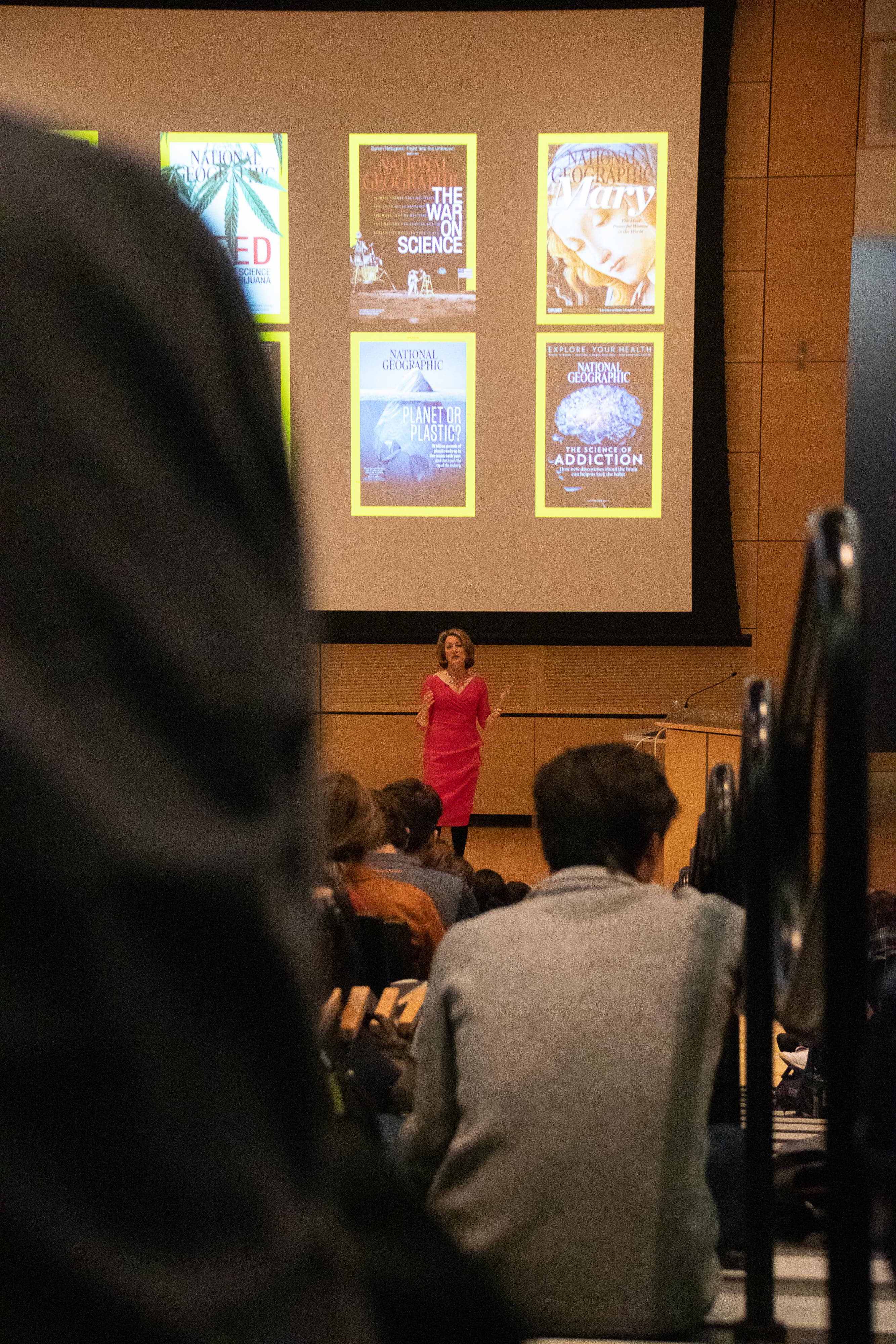 The Editor in Chief of National Geographic, Susan Goldberg, spoke to students at Newhouse on Wednesday evening.