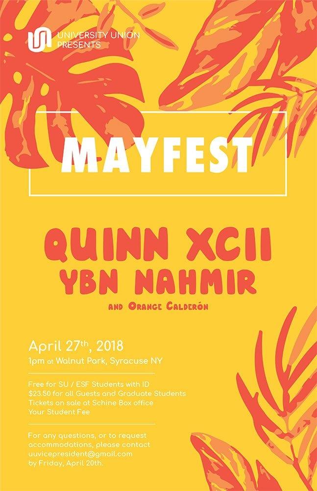 Mayfest 2018 Poster