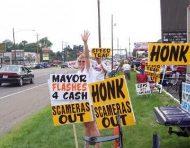 Heath,  Ohio camera protest