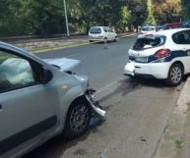 Speed camera crash in Italy