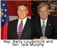 Rep Barry Loudermilk and Sen. Jack Murphy