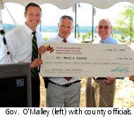 Maryland Governor with check
