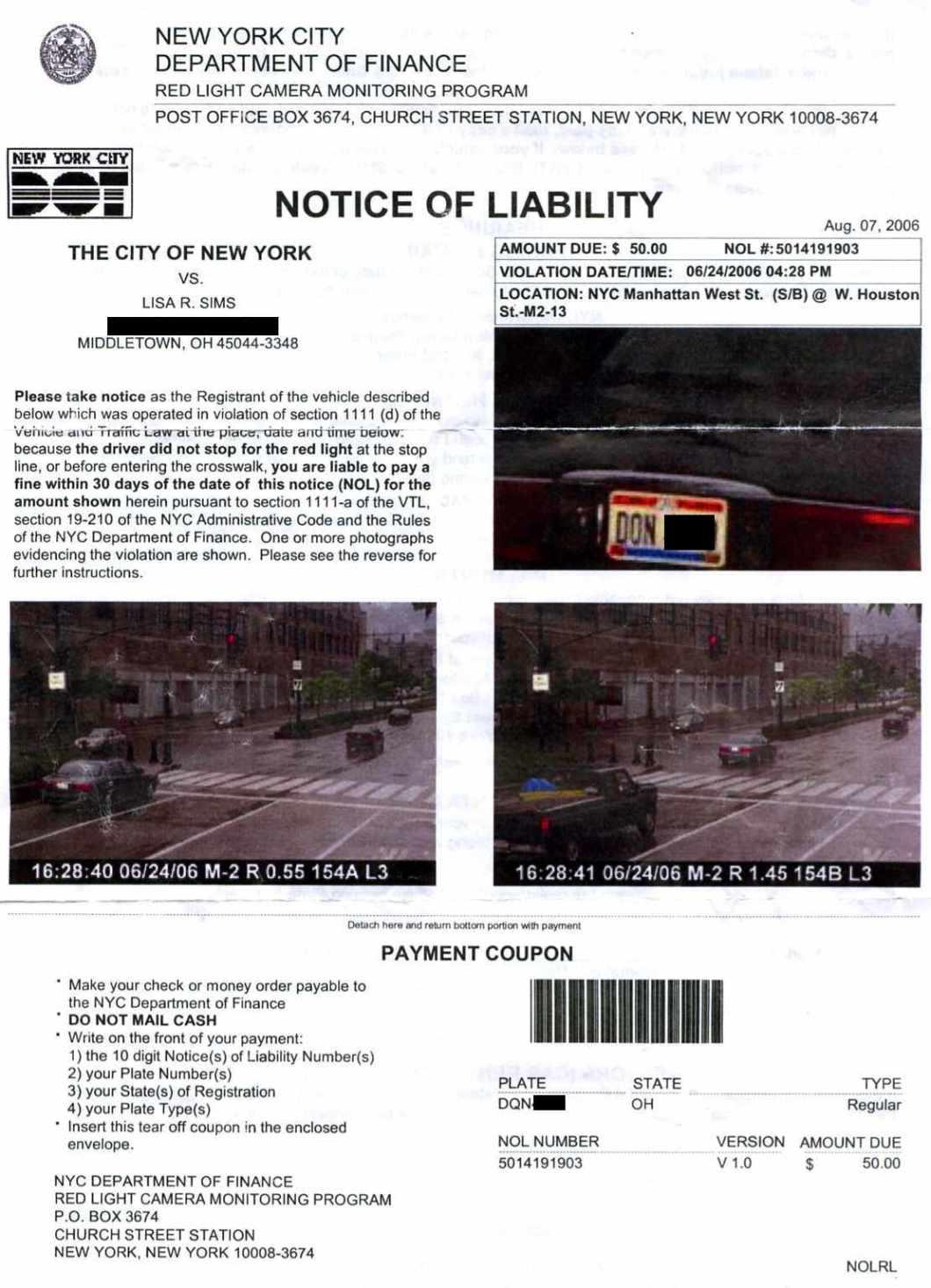 Red Light Ticket Violation Decoratingspecial Com