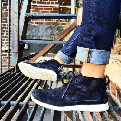 "Ugg ""Freamon"" light-weight chukka boot in black suede.. Photo: © TNG"