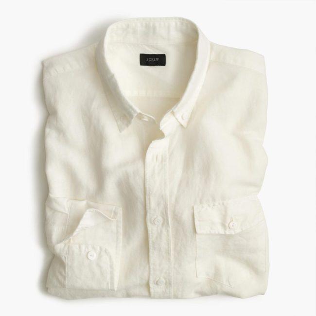 Irish Cotton-linen Shirt, photo via JCrew.com
