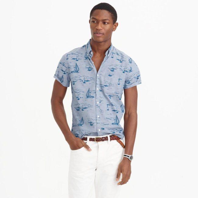 Short-sleeve Shirt in Sailboat Print, photo via JCrew.com