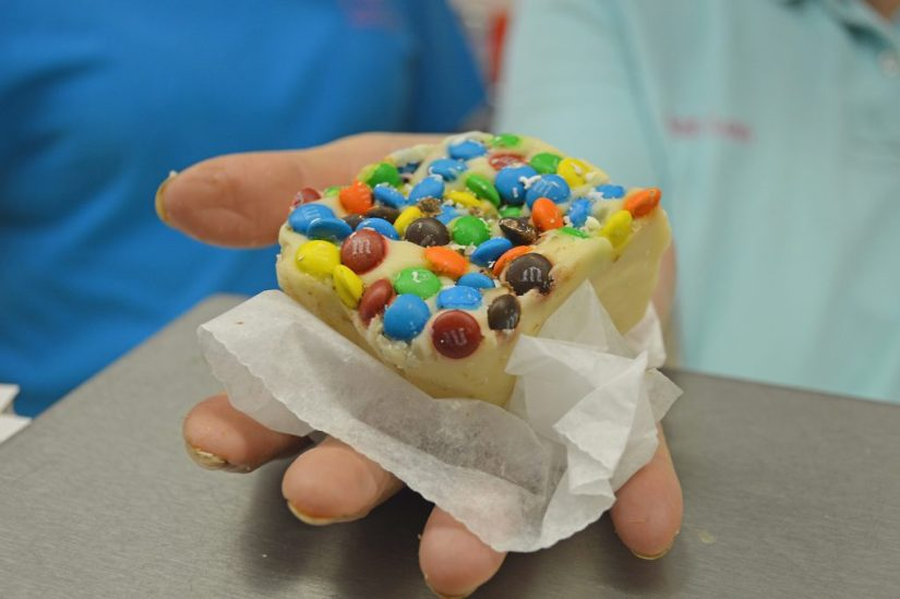 M&M fudge from Aunt Leah herself. Photo: © TNG