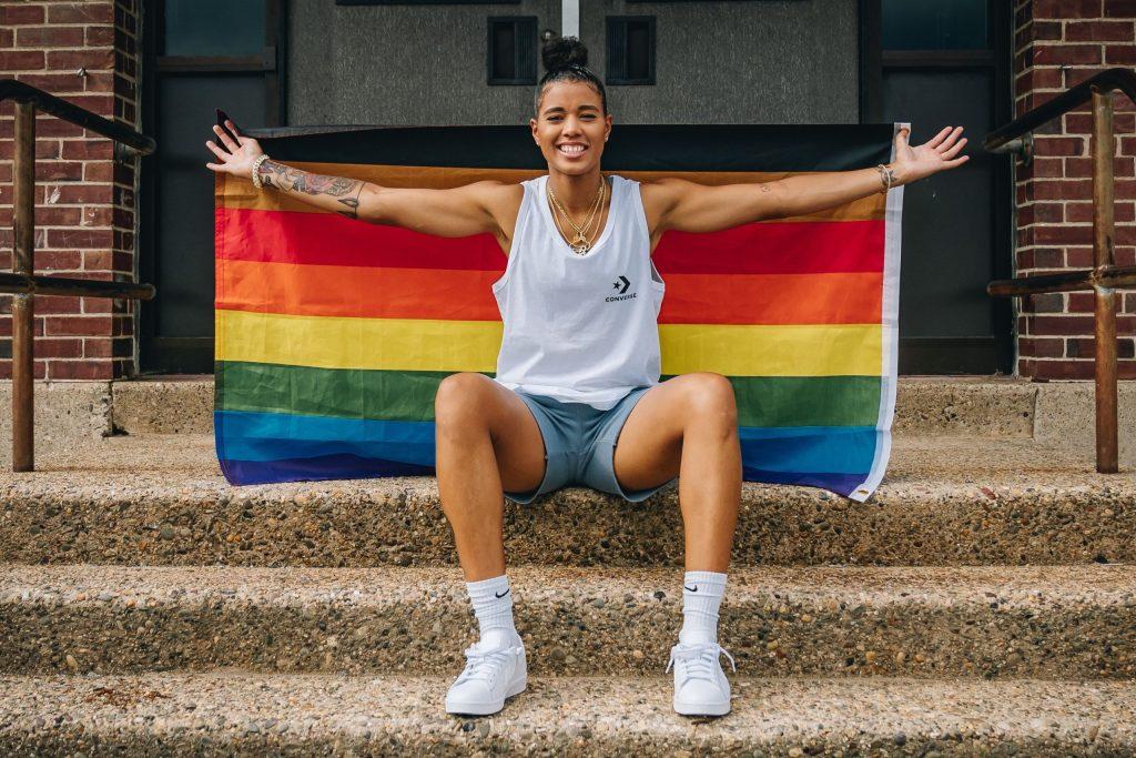Natasha Cloud featured in Philadelphia 76ers' Pride photo series