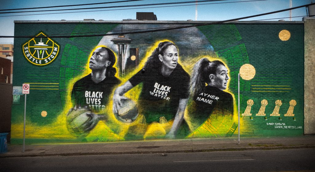 The inside story of the Seattle Storm's new mural