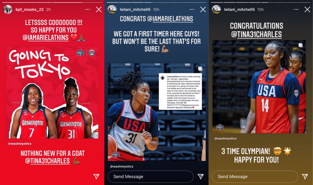 The rookie and the vet: Ariel Atkins and Tina Charles, two Mystics on Team USA