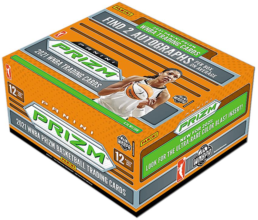 Box of 2021 Panini WNBA cards. (photo via Panini website)