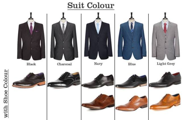 """<img src=""""https://i2.wp.com/www.thenextrex.com/wp-content/uploads/2015/02/Suit-Colour.jpg?resize=640%2C421"""" alt=""""This picture tells which suit to wear with a particular boot"""">"""