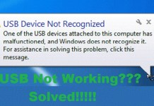 USB is not working !!! Solved!