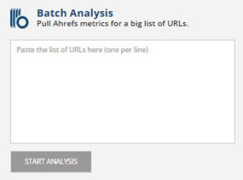 Ahrefs batch analysis