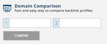 Ahrefs domain comparision