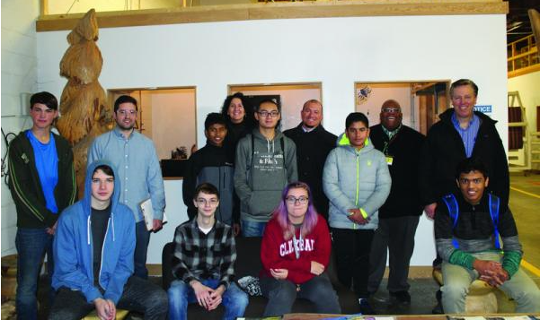 Hudson High School students see tech in action on Digifabshop factory tour