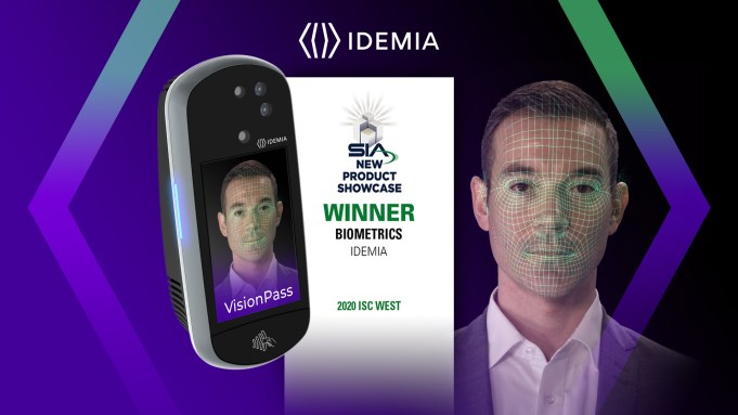 IDEMIA Wins the Security Industry Association (SIA) Award for Best New Biometric Product, VisionPass Advanced Facial Recognition Device