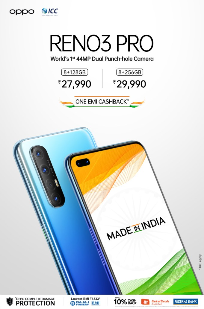 OPPO Sells Reno3 Pro for INR 27,990 with Exciting Offers to Celebrate Independence Day Starting 12th Aug 2020