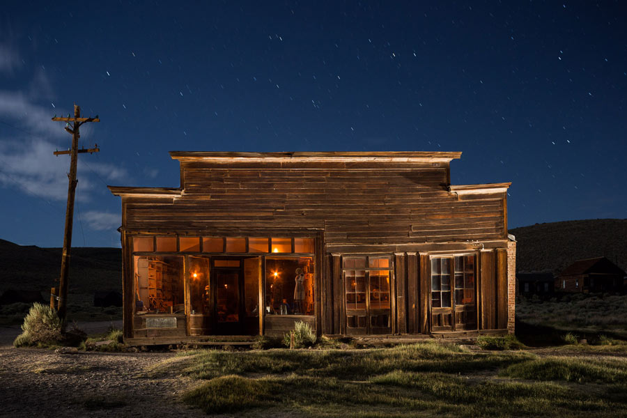 Bodie Ghost Town at Night