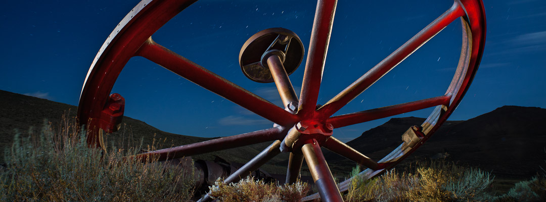Night photography at Bodie Ghost Town