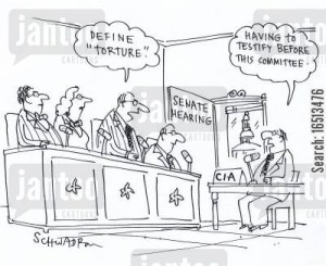 'Define Torture.' 'Having to testify before this committee.'
