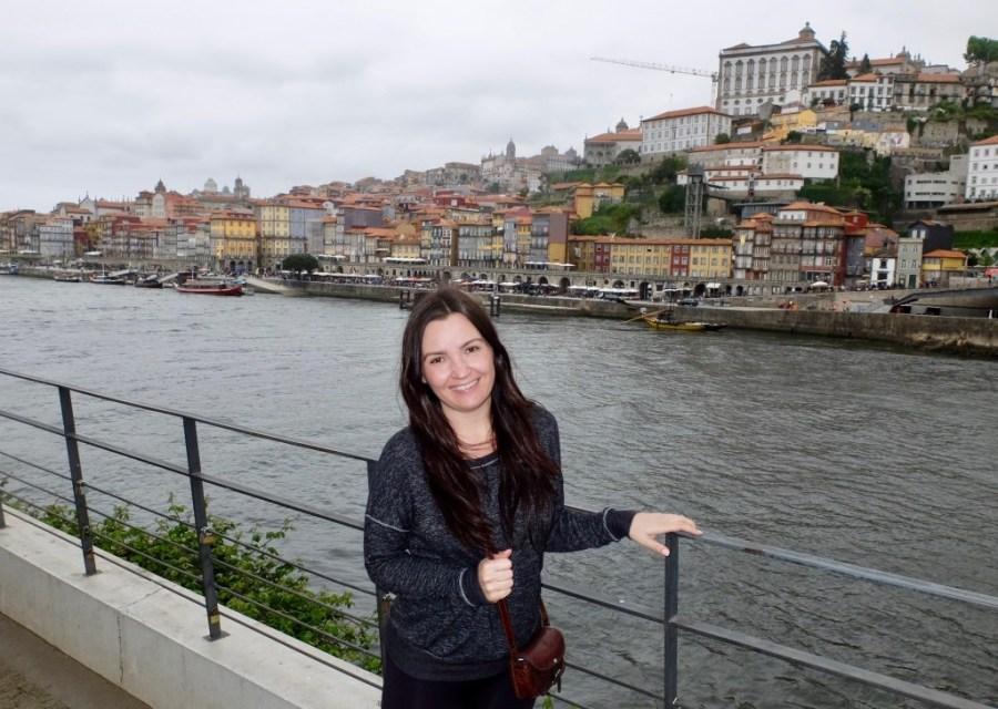 woman at douro river in porto
