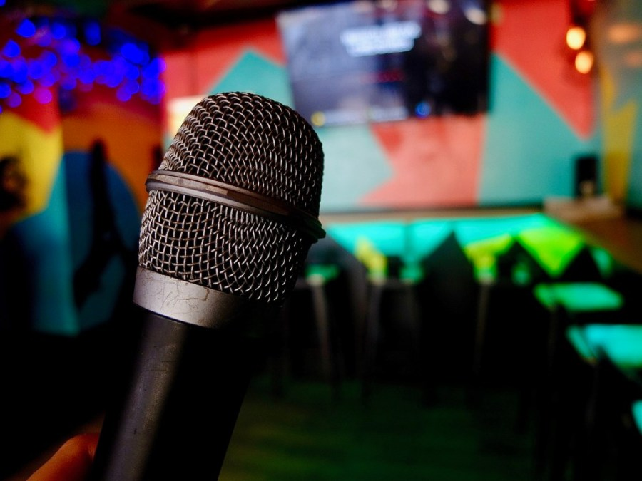 Microphone at Karaoke Shout in Asotira