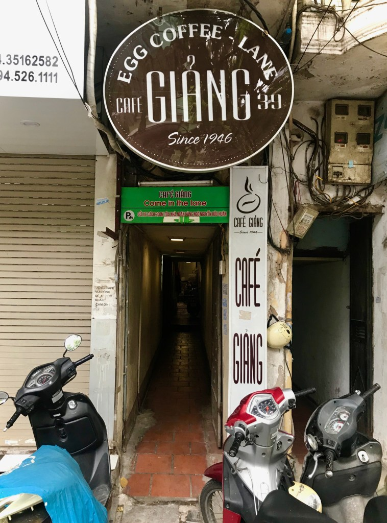 exterior of giang cafe in hanoi
