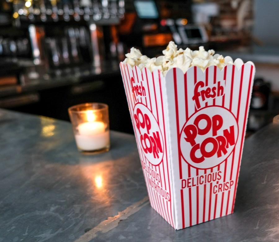 popcorn on bar