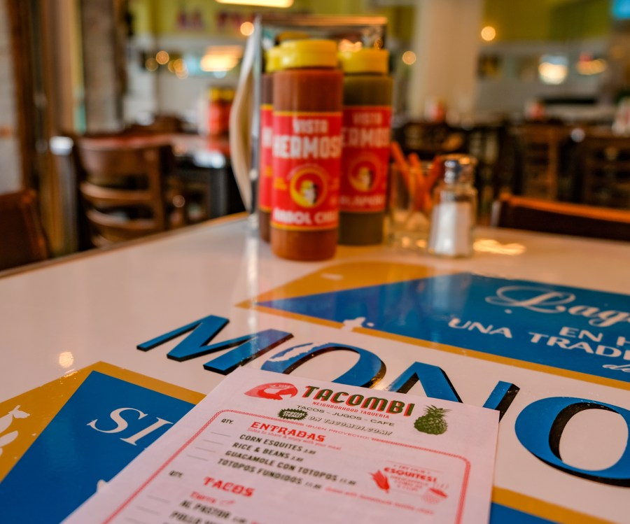 Menu on table at Tacombi on Upper West Side.