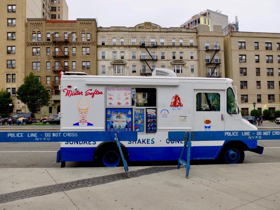 Mister Softee ice cream truck parked in Brooklyn