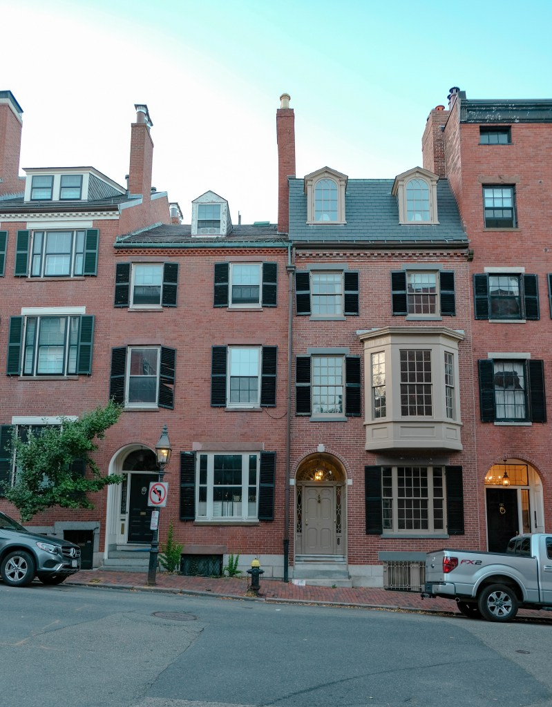 Street in Beacon Hill in Boston