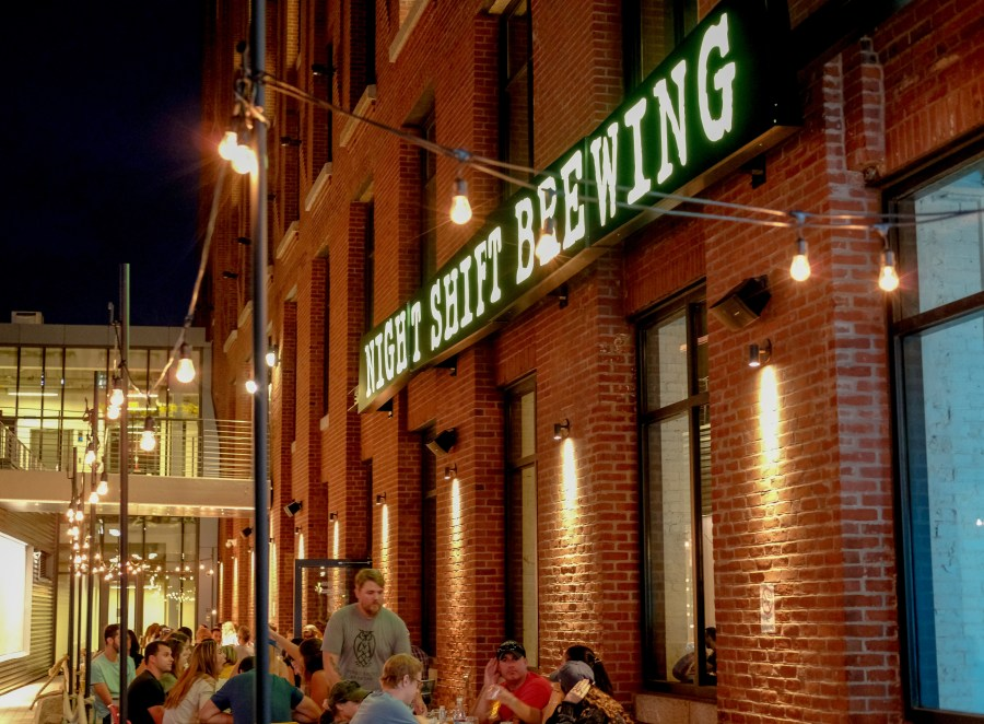 External of Night Shift Brewery at Lovejoy Wharf in Boston