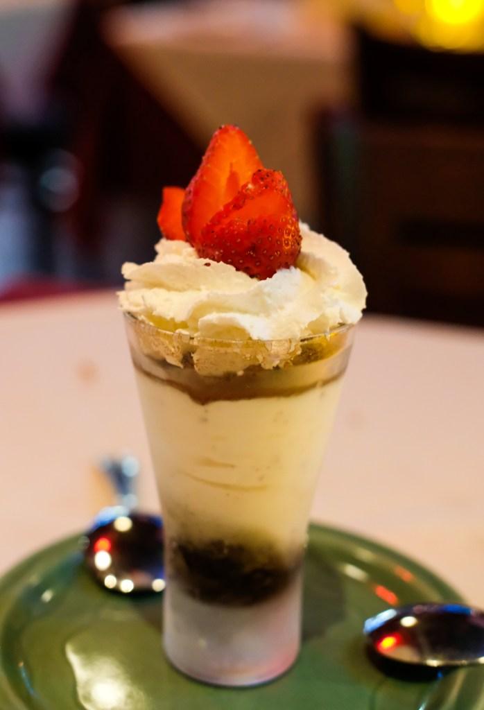 Tiramisu dessert at Dolce Vita