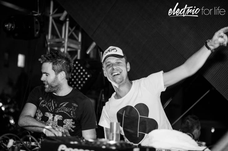 Gareth Emery during Electric For Life Miami 2016 at SLS South Beach with special guest Armin van Buuren (above)